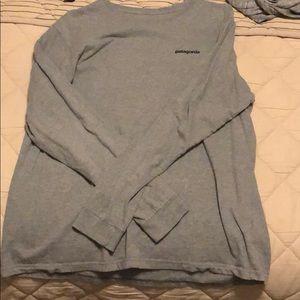 grey patagonia long sleeve-XL